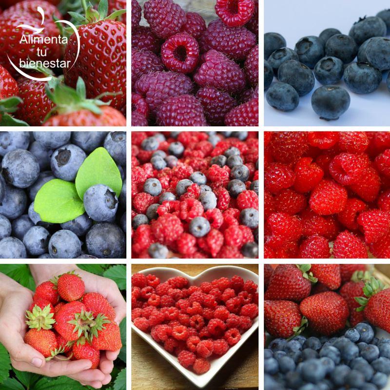 Frutas depurativas y antioxidantes fresas frambuesas arandanos