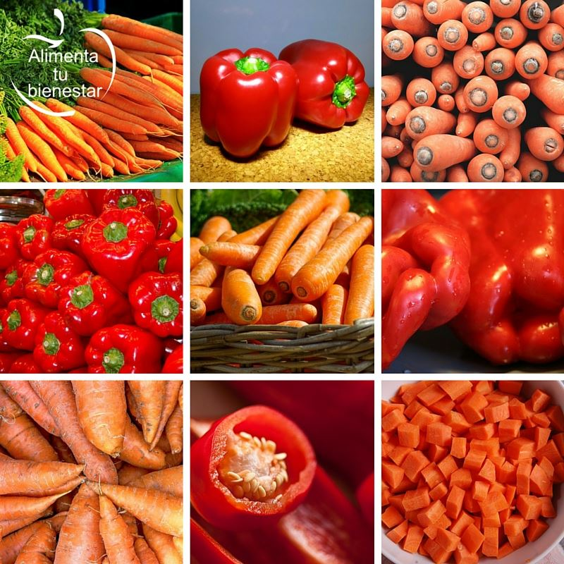 Alimentos medicina: Zanahoria y pimiento rojo