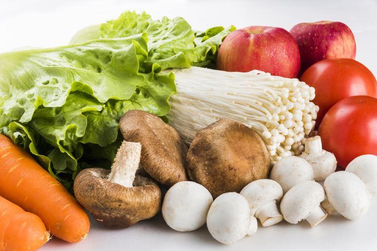 Setas y verduras anticancerígenas