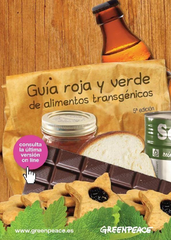 guia roja y verde de alimentos transgenicos