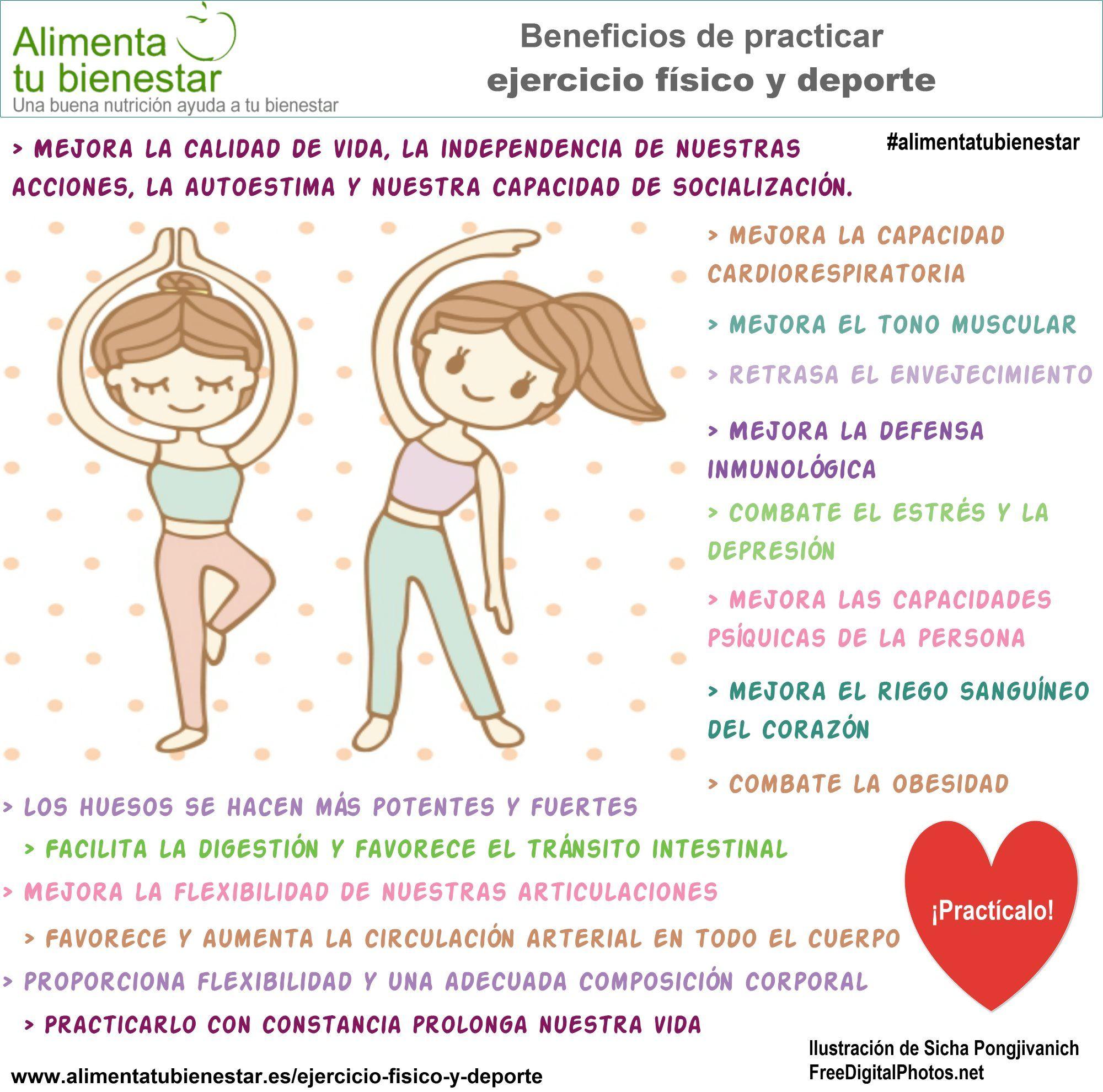 Los beneficios para la salud del ejercicio físico son varios