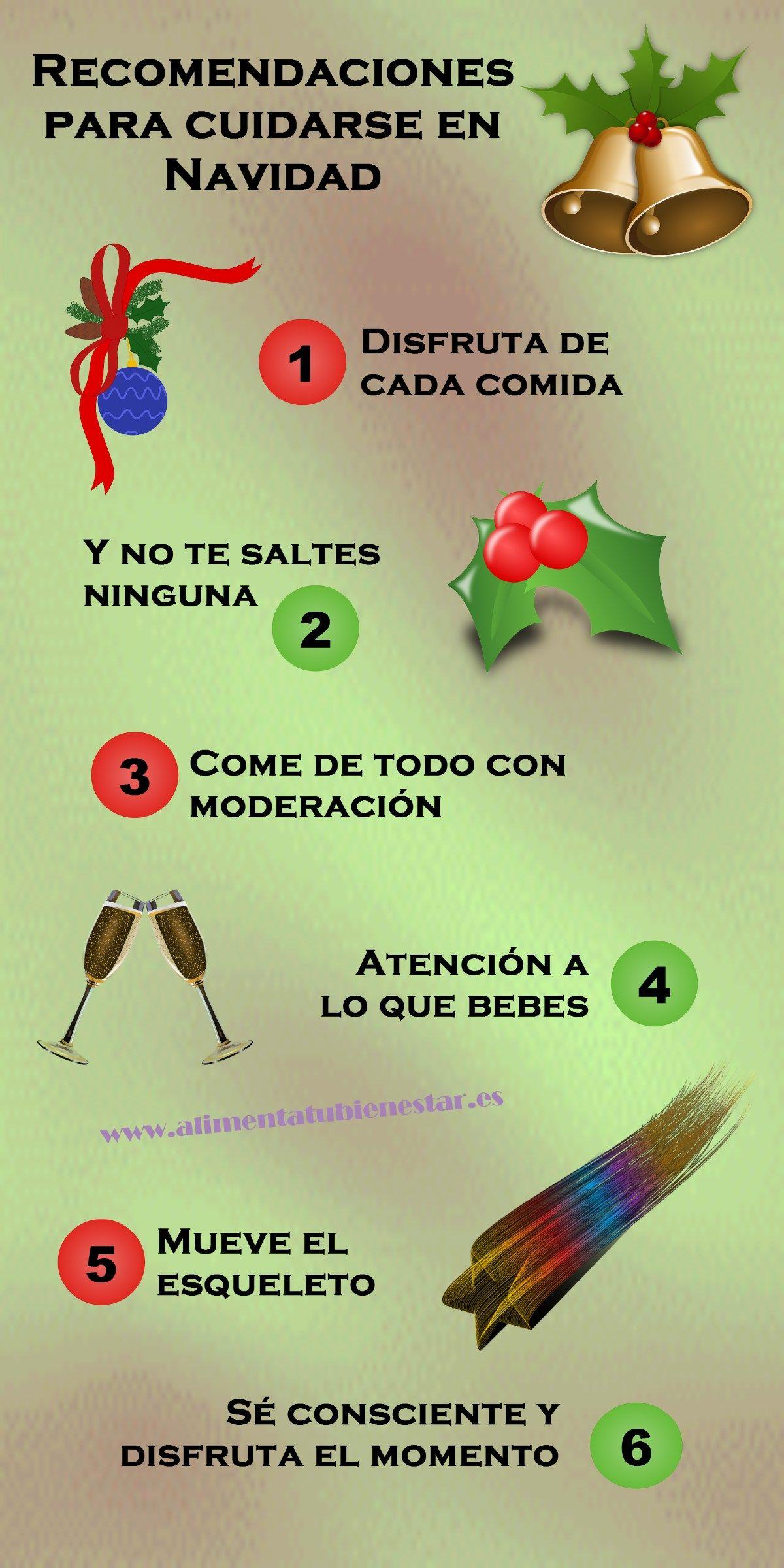 Pautas para cuidarse en Navidad
