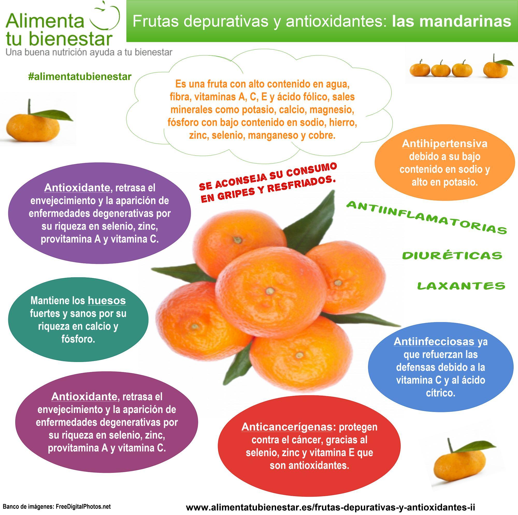 articulo saludable propiedades de la mandarina.