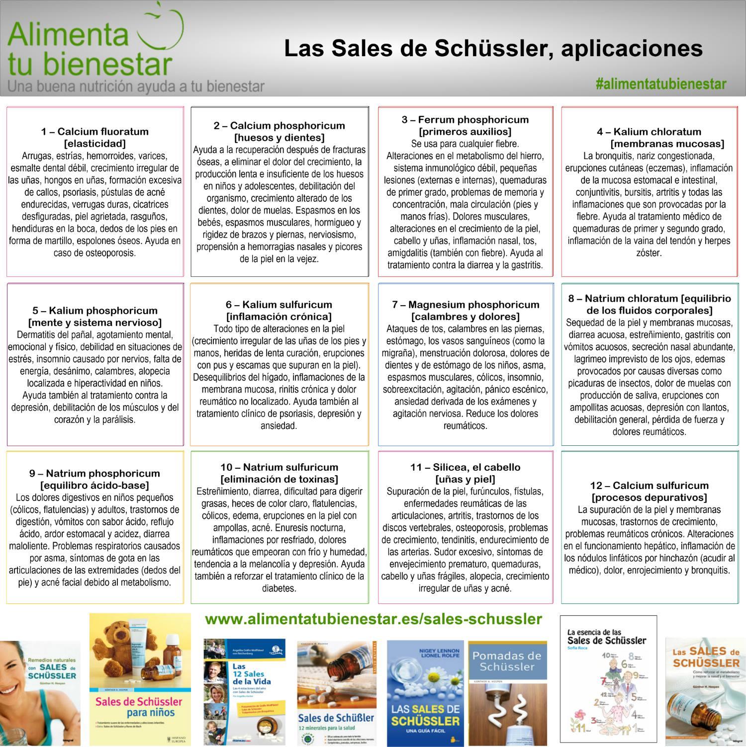 Las 12 sales del Dr. Schüssler