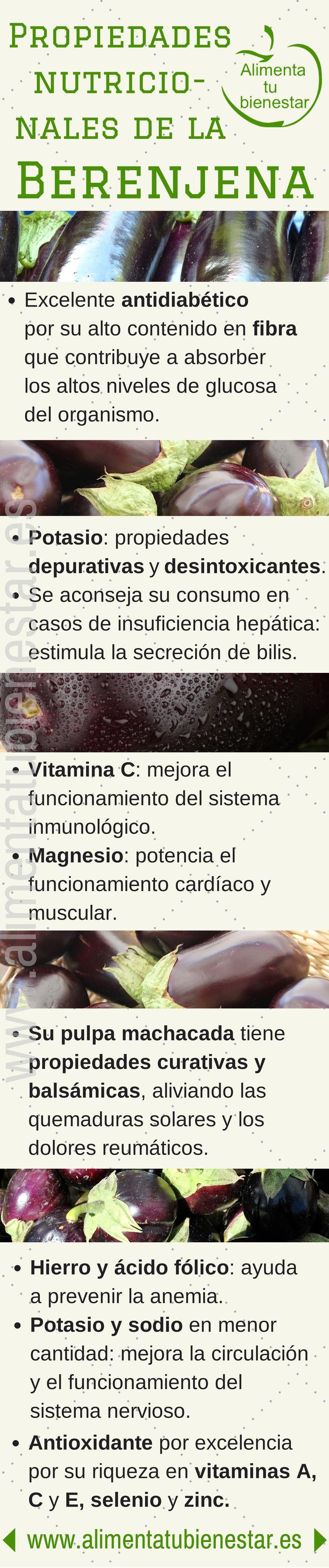 Verduras antioxidantes: las berenjenas