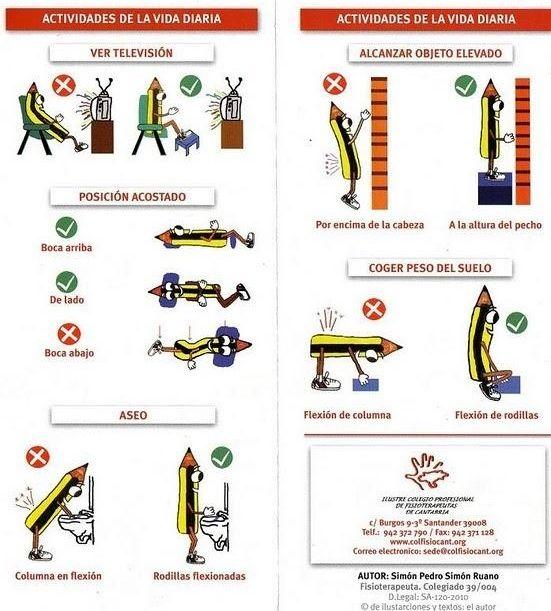evitar la sobrecarga muscular en actividades de la vida diaria