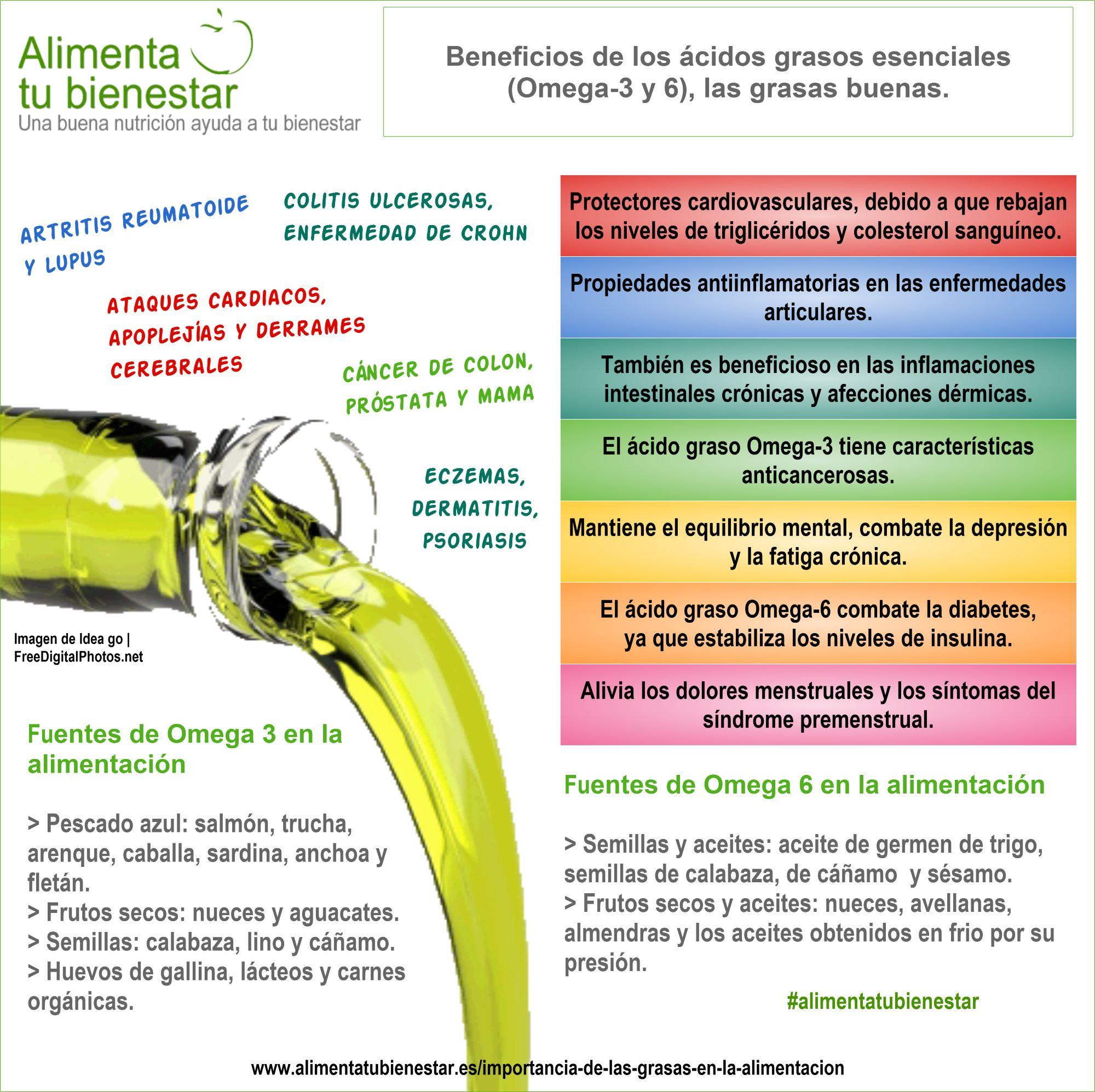 Las grasas en la alimentación: ácidos grasos omega
