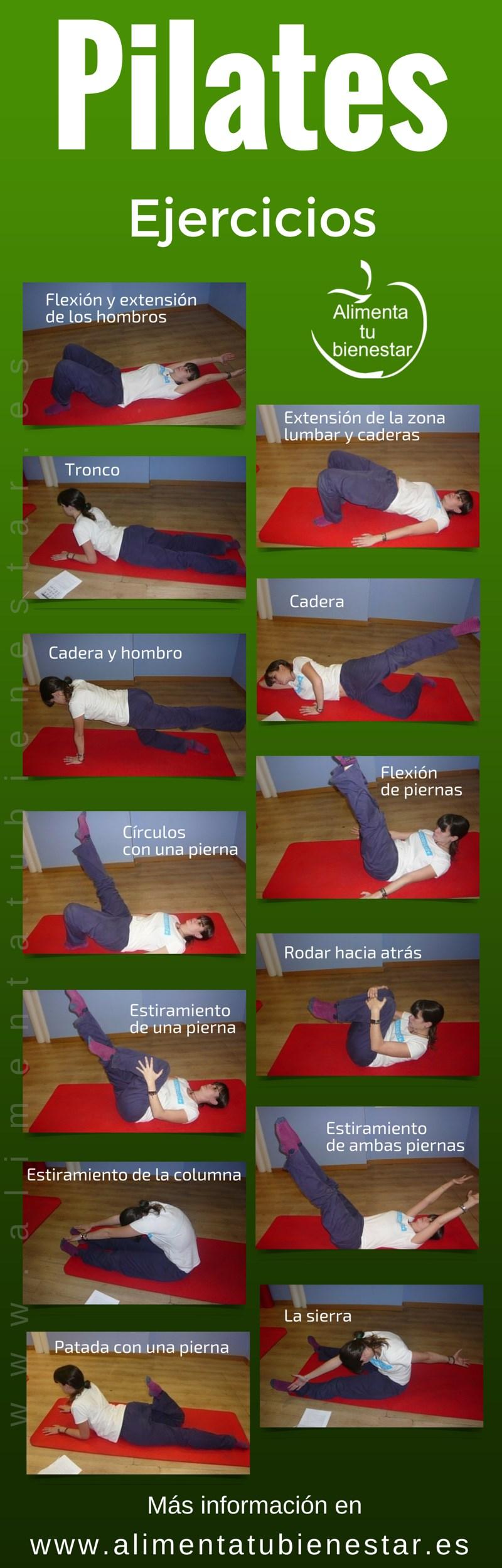 Ejercicios de Pilates en casa