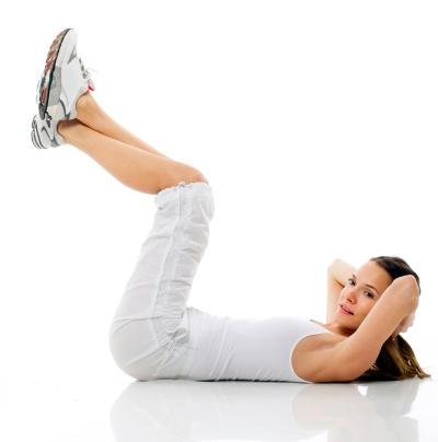 ejercicios de gimnasia: abdominales superiores