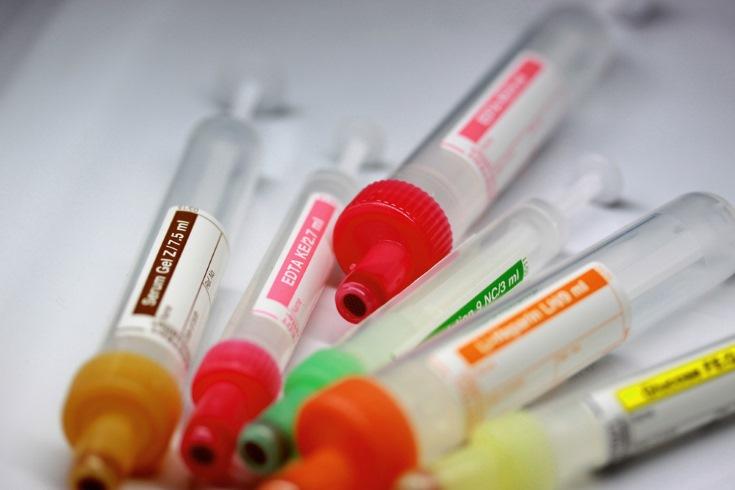 tubos de análisis de sangre