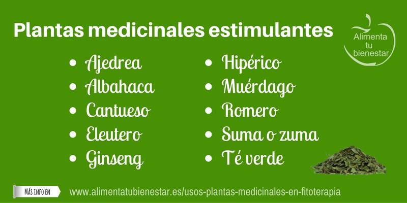 Plantas medicinales estimulantes