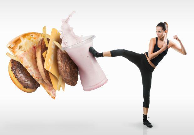 alimentación y ejercicio en casa