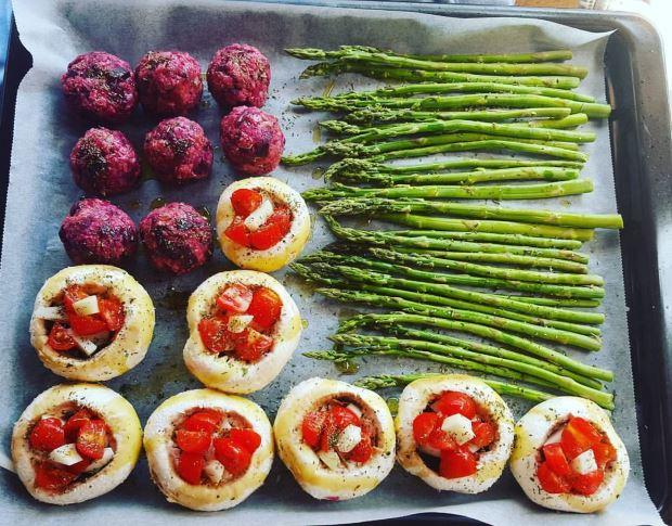 Bandeja de verduras al horno